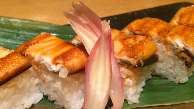 本日のおすすめ「穴子の棒寿司」