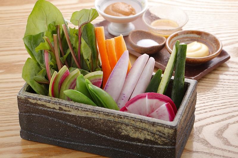有機野菜の盛り合わせ